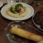 Lamb Cigar and Hummus