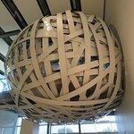 No, it's not a metallic bird's nest, it's their amazing meeting room!