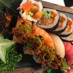 Litt av hva sushi vi kan diske opp med.