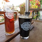 Icicle Brewery was just one block away. Local craft beers are served.