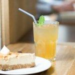 Cheesecake et thé glacé maison