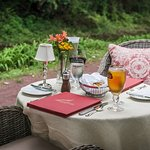 Towpath Dining on Outside Terrace