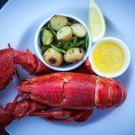 Fresh local lobster in season.