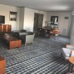 Living room of suite. Has attached butlers kitchen. No microwave