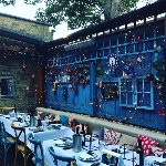 The garden set up for a private hire Chelsea