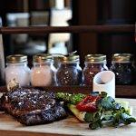 David's Club Signature Steak and seasonal vegetables.