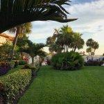 hotel garden between rooms
