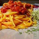 Menú del día restaurante italiano Cinquecento: spaghetti alla Matriciana