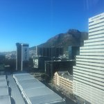 View of Table Mountain from my hotel room on the 18th floor.