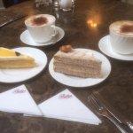 Engadine Torte, Lemon Curd Torte and cappuccino