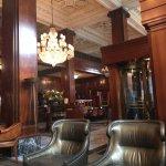 Inside, lobby area