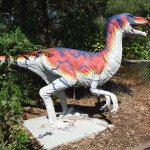 one of the colorful dino's
