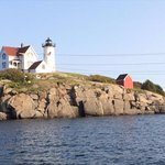 Nubble lighthouse from boat