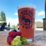 Our raspberry Hefeweizen