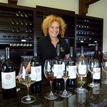Laura and the wine tasting