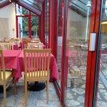 Véranda salle à manger et terrasse (sous la pluie !)