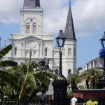 Saint Louis Cathedral overlooks the square.