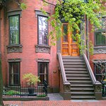 Our historic street and only steps from all the modern hotels of the Back Bay.