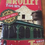 This trolley and the Alamo Double Decker go to the Missions