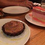 Chocolate Tart and Strawberry Torte