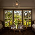 The intimate dining rooms at The Fearrington House Restaurant