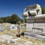 Among the ruins at the Hera Temple