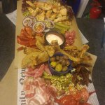 Party platter with mixed meats and cheese