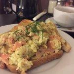 Breakfast downstairs!