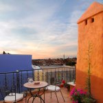 Rooftop terrace is available for a couple of rooms
