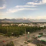 Lovely view of SLC from my hotel room on the 6th floor