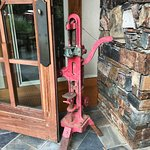 Old bottle corker by front door sets a nice wine country note