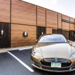 A total of 3 EV charging stations including (2) Tesla 80 Amp Single Phase for Model S, & 1 stand