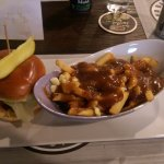 Signature burger and traditional poutine