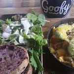 Hawaiian omelet with Nalo greens and Taro Muffin