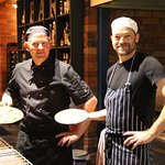 Our amazing head pizza maker Borgs and one of our chefs Glenn.
