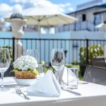 Pool side dining at Regent Room, Regent of Rotorua