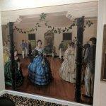 Beautiful art adorns the lobby, civil war era themes.