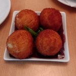 Bocaditos de Yuca - Cassava and goat cheese fritters