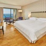 Roomy sea view room