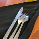rusty cutlery at breakfast