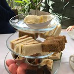 High tea in the conservatory