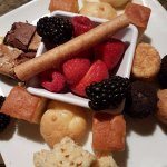 All the goodies to dip in the Creme Brulee Fondue