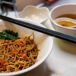 Bamboo noodles with dried shrimp roe