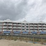 This is the hotel from the beach
