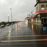 Boardwalk adjacent to the hotel w/restaurants.