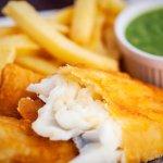 Cod or Haddock fresh cut chips and mushy peas
