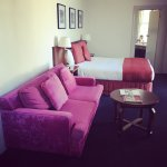 Amazing pink couch in our room