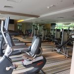 Gym with good quality equipment. Nothing was broken. There is a steam sauna and two shower rooms