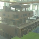 A model of the Governor's Palace- Corbusier's most sculptural building- sadly never built.