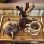 Tea in lobby lounge - Yangshuo VIllage Inn - Guilin Yangshuo China